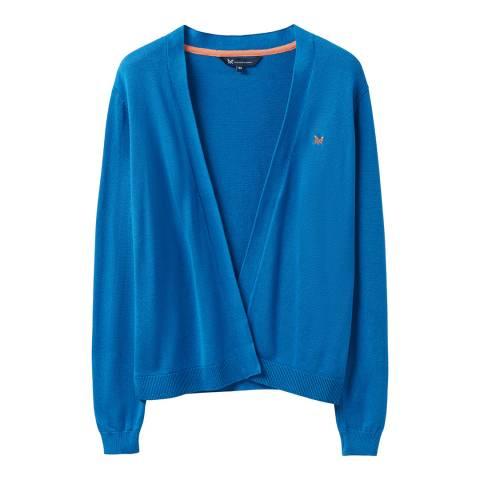 Crew Clothing Blue Cotton Cardigan