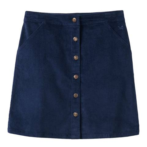 Crew Clothing Navy Cord Skirt