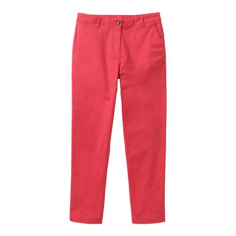 Crew Clothing Red Cotton Chinos