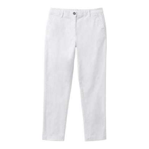 Crew Clothing White Cotton Chinos