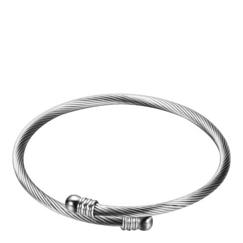 Chloe Collection by Liv Oliver Silver Plated Texture Bangle