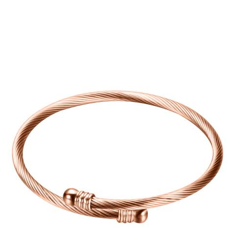 Chloe Collection by Liv Oliver 18K Rose Gold Plated Texture Bangle