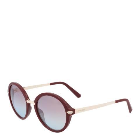 SWAROVSKI Women's Red Swarovski Sunglasses 52mm