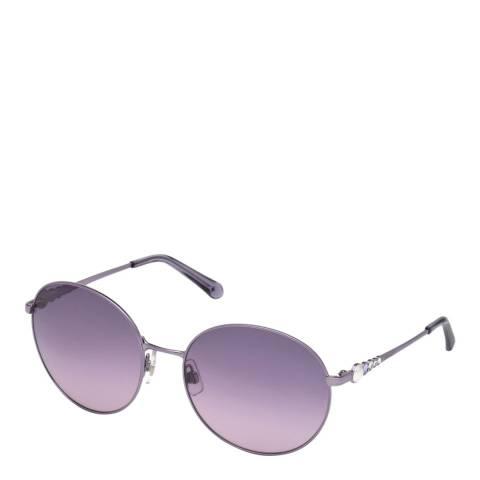 SWAROVSKI Women's Purple Swarovski Sunglasses 61mm