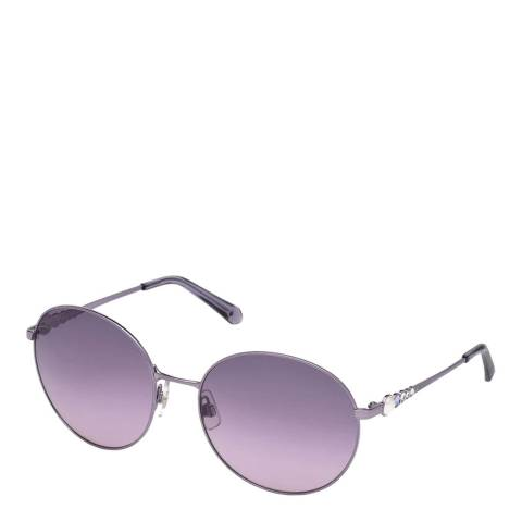 SWAROVSKI Women's Purple Swarovski Sunglasses 61mm