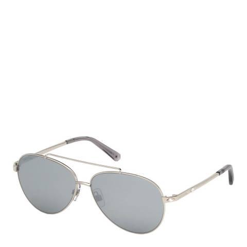 SWAROVSKI Women's Silver Swarovski Sunglasses 60mm