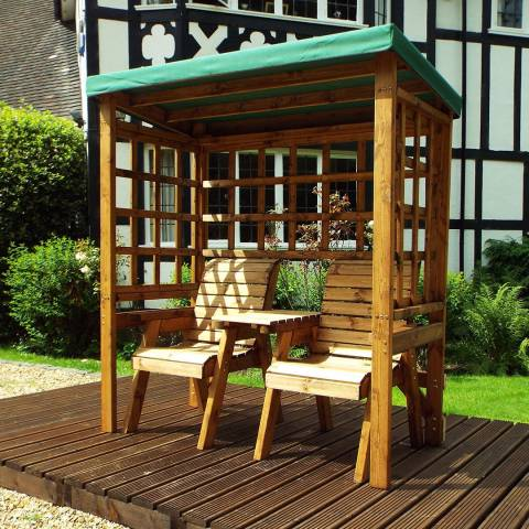 Charles Taylor Green Henley Twin Seat Arbour