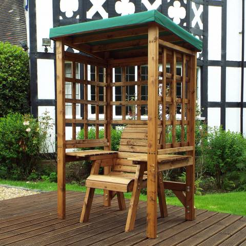 Charles Taylor Deluxe Green Wentworth Single Seat Arbour