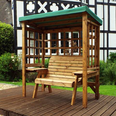 Charles Taylor Deluxe Green Wentworth Two Seat Arbour