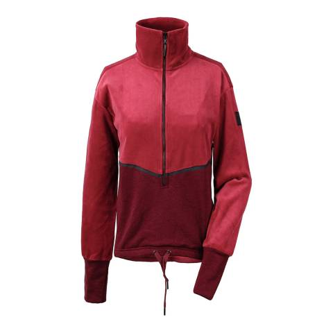 Didriksons Red Pia Half Zip Top