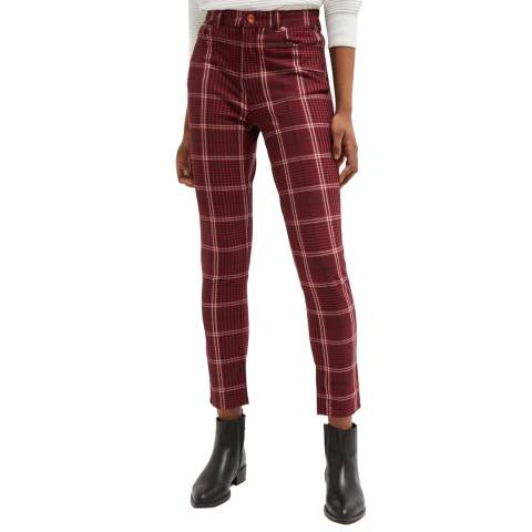 French Connection Red Tilly Tartan Skinny Jeans