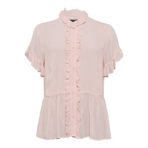 French Connection Pint Clandre Light Ruffle Blouse