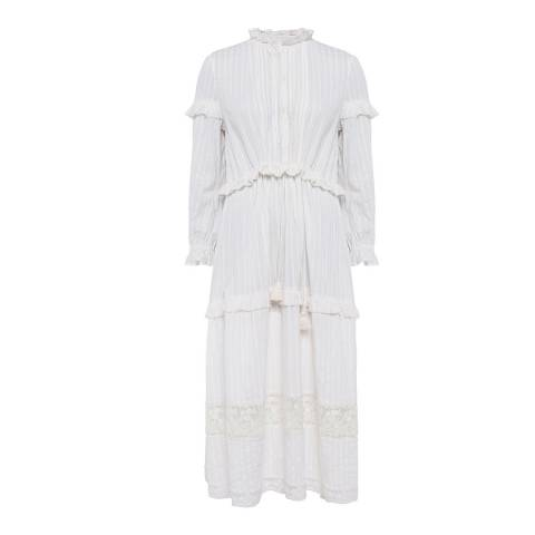 French Connection White Coletta Cotton Dress
