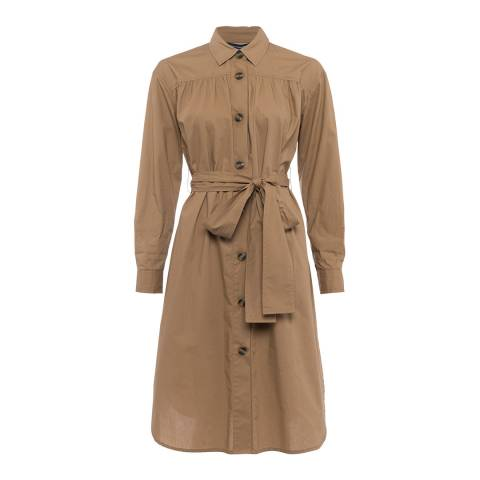 French Connection Beige Southside Cotton Dress