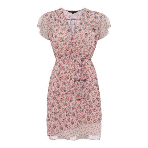 French Connection Multi Celestia Sheer Warp Dress