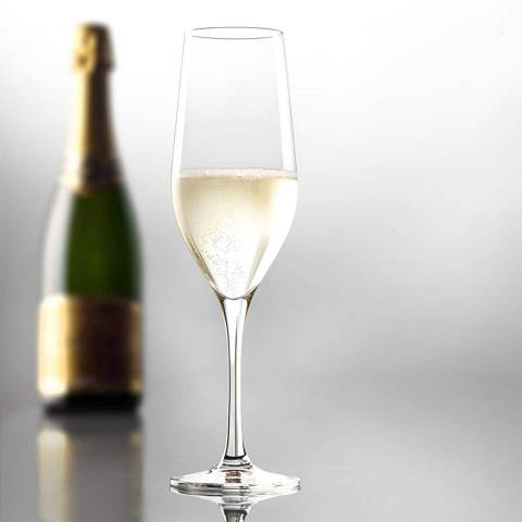 Stolzle Set of 4 Grand Epicurean Champagne Glasses, 280ml