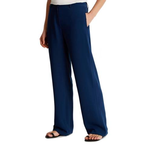 Fenn Wright Manson Teal Wide Leg Relaxed Trousers