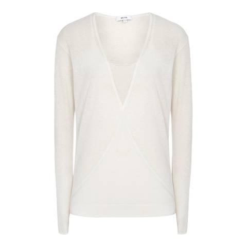 Reiss White Lauren Lightweight Cotton Top