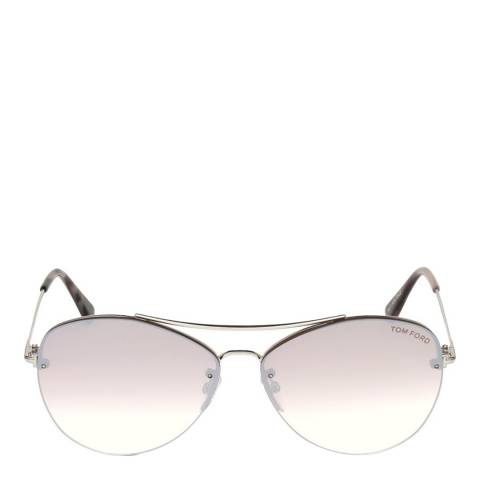 Tom Ford Women's Silver Tom Ford Sunglasses 60mm