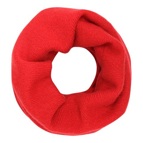 Laycuna London Red Cashmere Snood