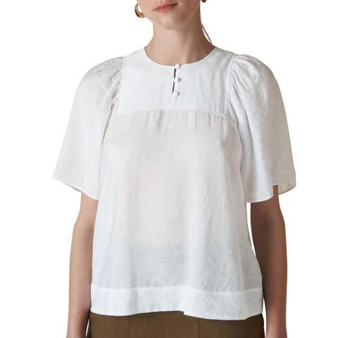 WHISTLES White Charlee Tunic Top