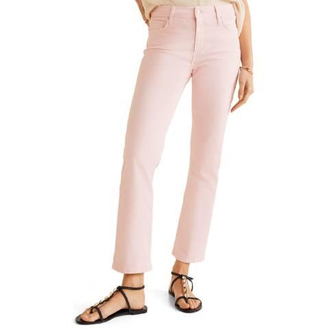Mango Pink Colour Straight Jeans