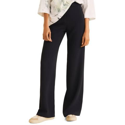 Mango Black Straight Suit Trousers