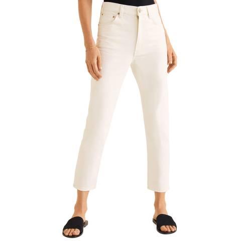 Mango Off White Mom Slim Jeans