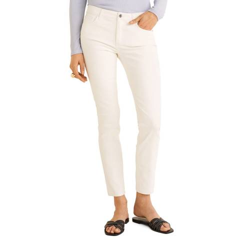 Mango White Waxed Skinny Belle Jeans