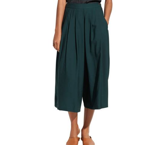 Vince Forest Green Pleated Culottes