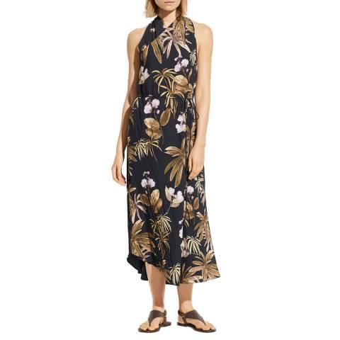 Vince Black/Multi Tropical Garden Dress