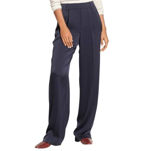 Vince Black Wide Pull On Trousers