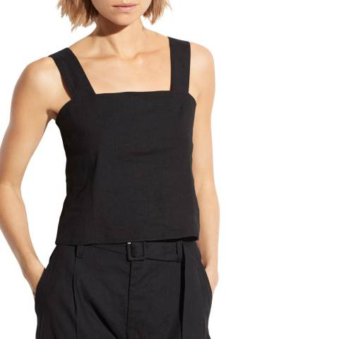 Vince Black Cropped Shell Top