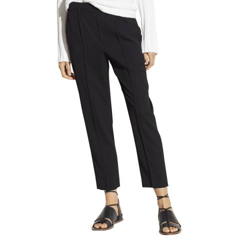 Vince Black Tapered Pull On Trousers