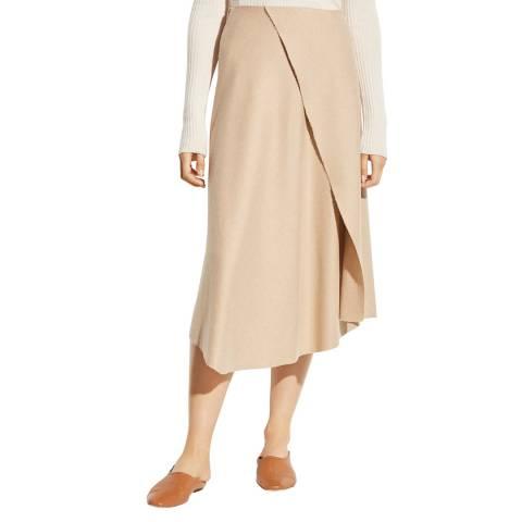 Vince Beige Asymmetric Drape Skirt