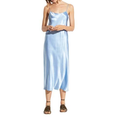 Vince Blue Silk Slip Dress