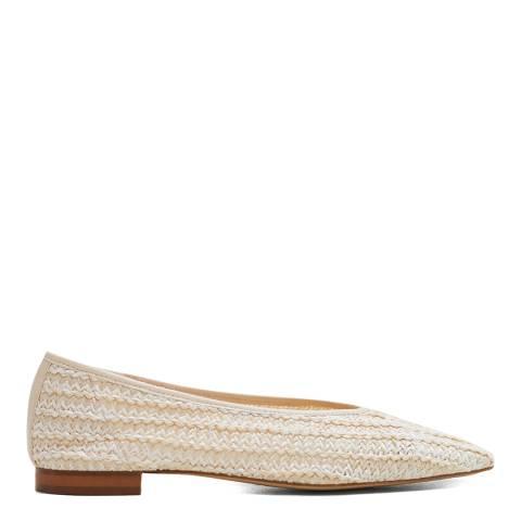 Mango Beige Braided Gaia Shoes