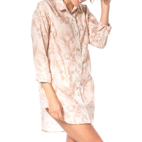 The Lazy Poet Sissy Villa Damask Pink PJ Oversized Shirt