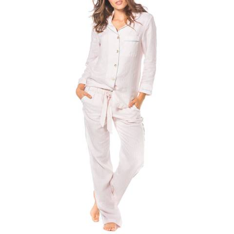 The Lazy Poet Emma Pink Lazy Stripes Long PJ set