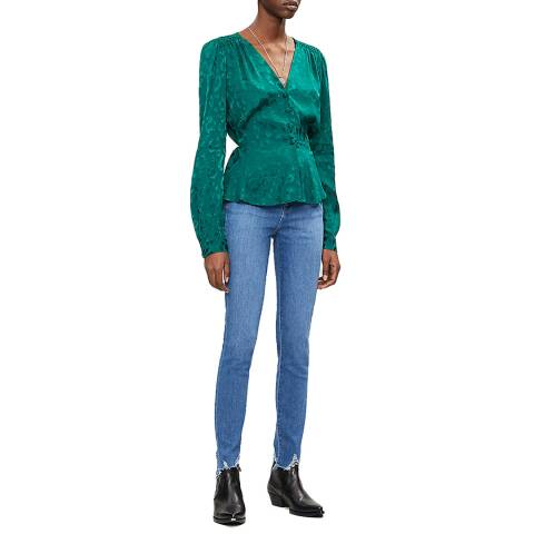J Brand Blue Maria High Rise Skinny Stretch Jeans