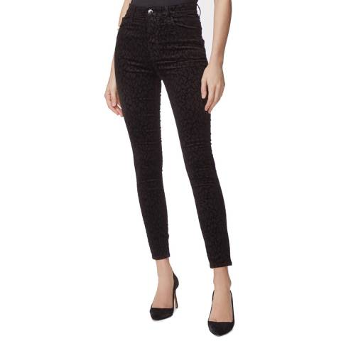 J Brand Black Leenah Super High Rise Stretch Jeans