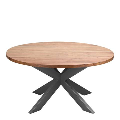Hill Interiors Live Edge Collection Large Round Dining Table