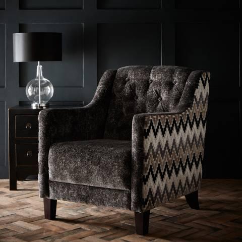 Clarke & Clarke Hampton Chair - Stucco Ebony