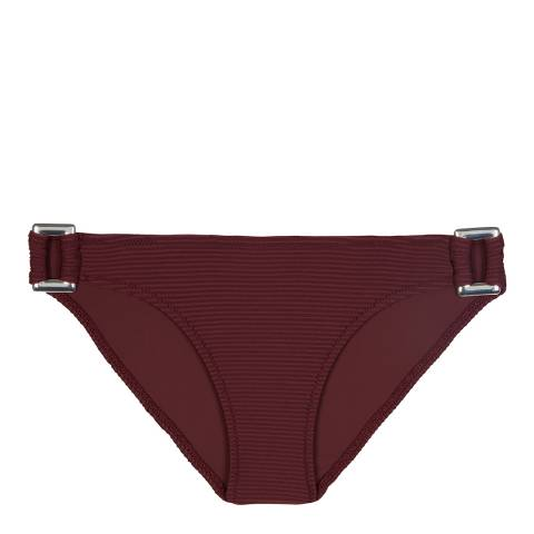 Heidi Klein Burgundy Monaco Dark Red Rectangle Bottom