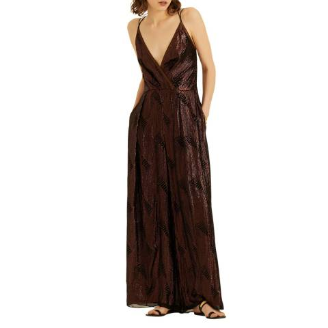 Amanda Wakeley Brown Embellished Jumpsuit