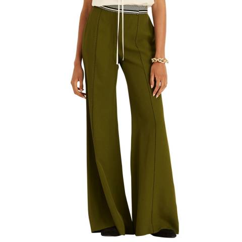 Amanda Wakeley Green Flared Tailored Trouser