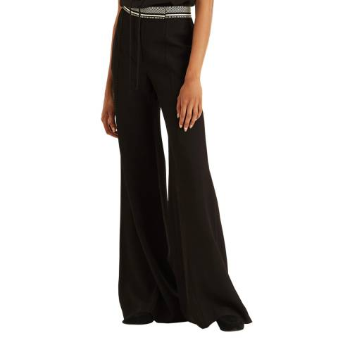 Amanda Wakeley Dark Brown Flared Tailored Trouser