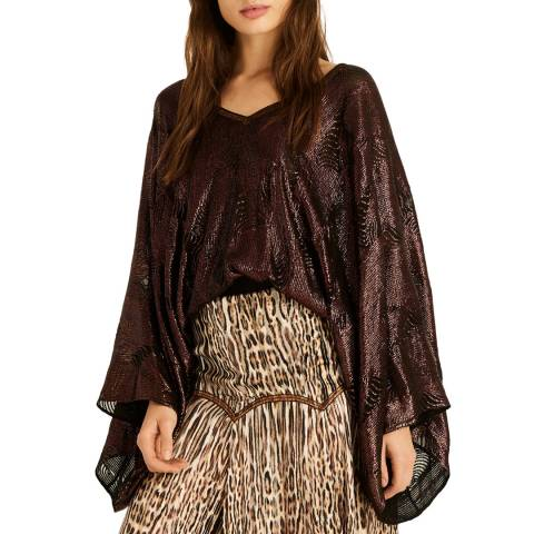 Amanda Wakeley Embellished Top Embellishment Brown Multi Size Extra Small