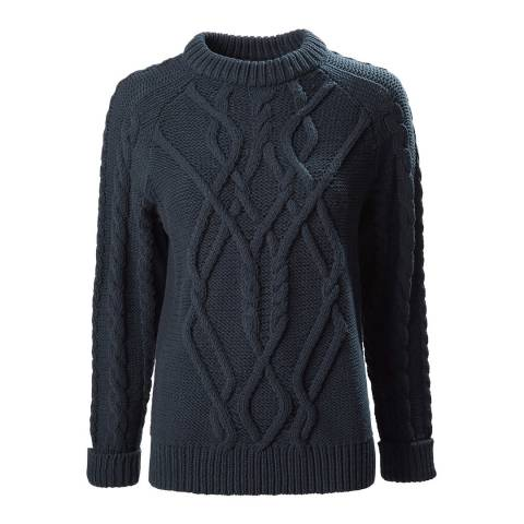 Musto Navy Hollie Chunky Cable Jumper
