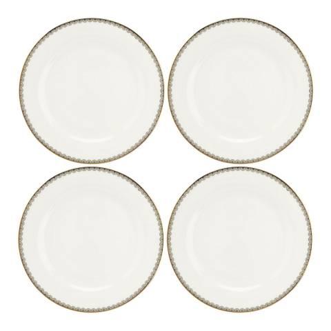 Royal Worcester Set of 4 Blue Lily Dinner Plates